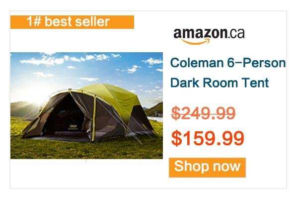 缩略图 | 历史最低价!Coleman  6人家庭野营帐篷6.8折 159.99加元包邮!亚马逊销量第一!
