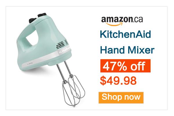 缩略图 | 销量冠军!烘焙神器!KitchenAid强力搅拌器5.3折 49.98加元包邮!