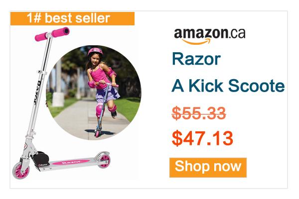缩略图 | 孩子放风必备神器!北美名牌Razor 粉色儿童滑板车优惠啦!亚马逊销量第一哦!