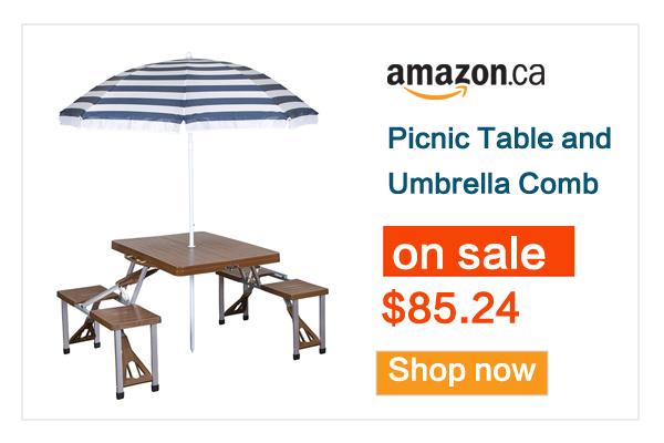 缩略图 | 这个夏天你需要它!折叠餐桌椅+遮阳伞套装优惠啦,后院必备!