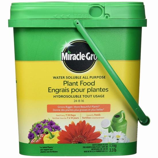 缩略图 | 【优惠快报】Miracle-Gro水溶性植物复合肥料(1.5公斤)6.3折 8.71加元!