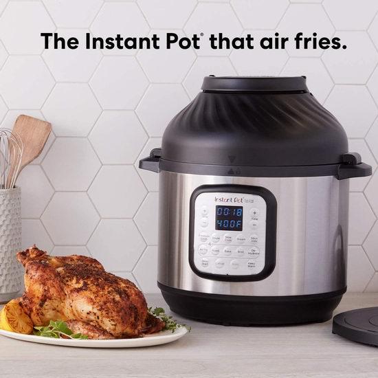 缩略图 | 近史低价!新品 Instant Pot Duo Crisp  智能空气炸锅+电压力一体锅 190.42加元包邮!