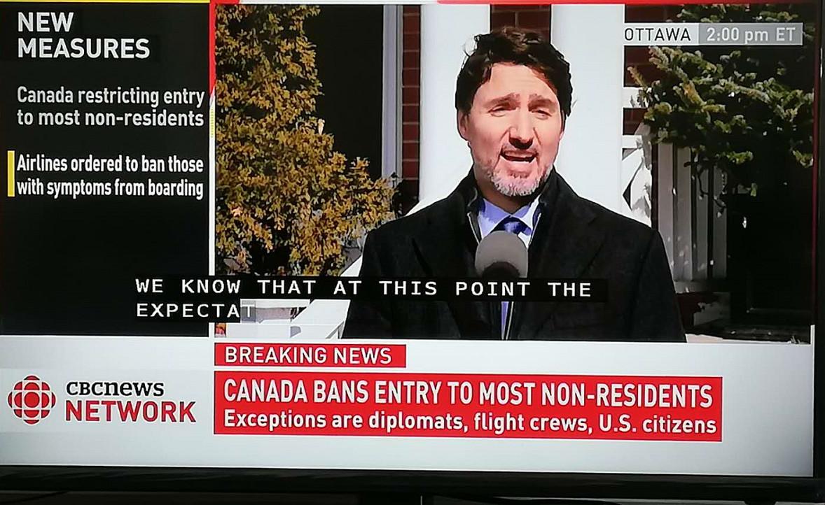 缩略图 | 【重磅突发】加拿大关闭国境,所有非加拿大居民禁入,任何有症状者禁入!
