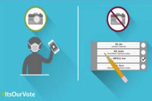缩略图   加拿大选举局提醒民众:大选投票拍照违法,后果很严重!