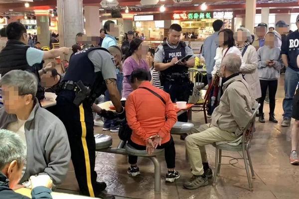 缩略图 | 往年轻女孩脸上泼热汤,加拿大华裔老夫妇被警察铐上了