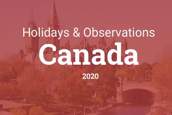 缩略图 | 2021年加拿大法定假期 (2021 Canadian Statutory Holidays)
