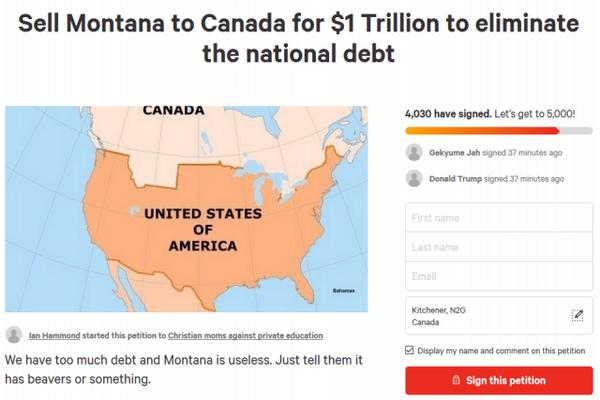 缩略图   美国人开价1万亿 想把这州卖给加拿大 网友吵翻