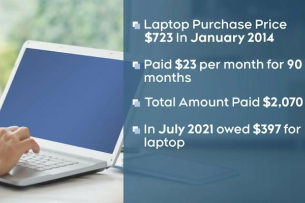 缩略图   小心套路深!加拿大女生买700元笔记本,7年后还欠款!