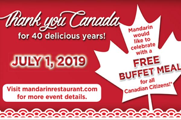 缩略图 | 【7月1日免费吃自助】Mandarin文华自助餐免费任吃,庆祝餐厅成立40周年和国庆节!
