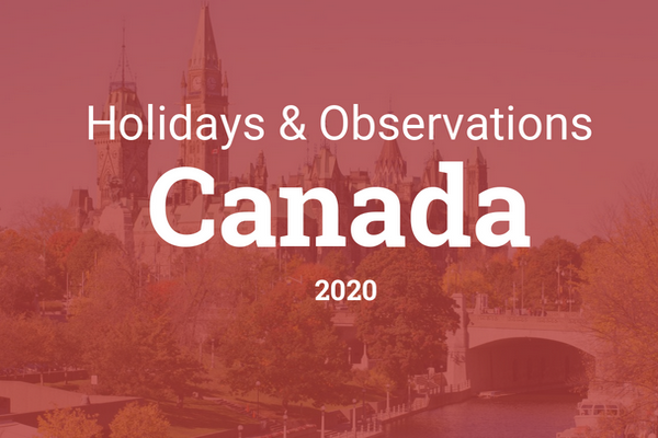缩略图 | 2020年加拿大法定假期 (2020 Canadian Statutory Holidays)