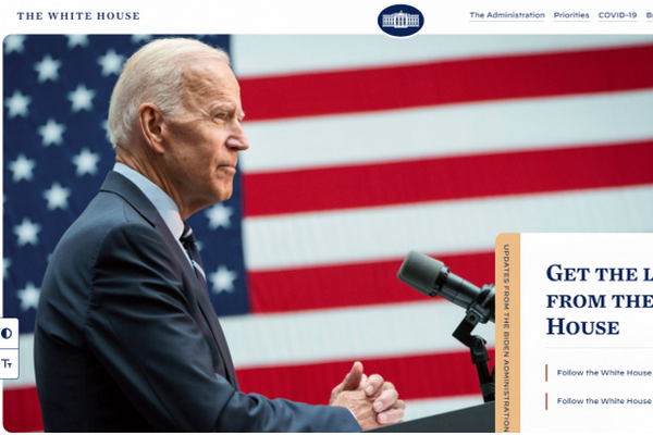 缩略图 | 拜登在白宫网站上用秘密信息发出征集程序员的消息