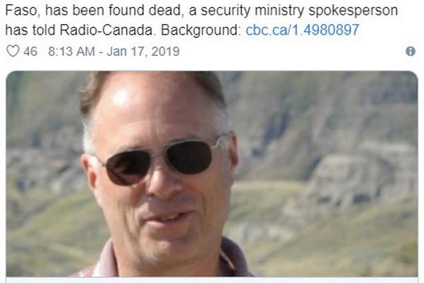 缩略图   加拿大公民非洲遭绑架 找到时尸体满是弹孔