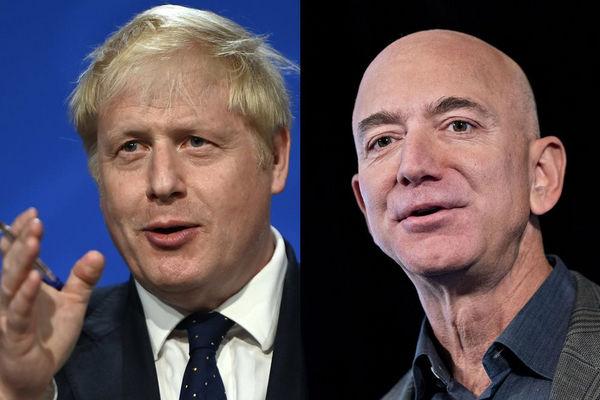 缩略图 | 英国首相约翰逊将与贝佐斯会面,要求亚马逊缴税