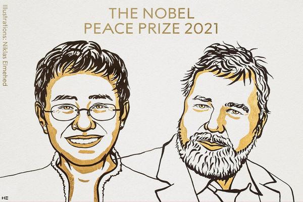 缩略图 | 2021年诺贝尔和平奖揭晓:来自菲律宾和俄罗斯的两名记者获奖
